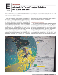 Maritime Logistics Professional Magazine, page 53,  Q1 2012