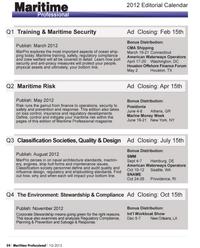 Maritime Logistics Professional Magazine, page 54,  Q1 2012