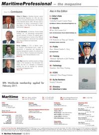 Maritime Logistics Professional Magazine, page 4,  Q1 2012