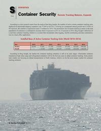 Maritime Logistics Professional Magazine, page 58,  Q1 2012