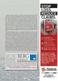 Maritime Logistics Professional Magazine, page 59,  Q1 2012