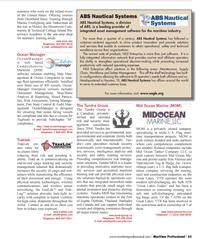 Maritime Logistics Professional Magazine, page 63,  Q1 2012