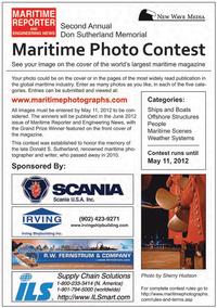 Maritime Logistics Professional Magazine, page 3rd Cover,  Q1 2012
