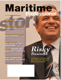 Maritime Logistics Professional Magazine Cover Q2 2012 - Maritime Risk