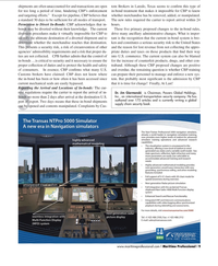 Maritime Logistics Professional Magazine, page 9,  Q2 2012 transportation security