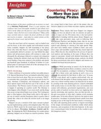 Maritime Logistics Professional Magazine, page 10,  Q2 2012