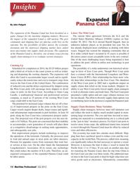 Maritime Logistics Professional Magazine, page 12,  Q2 2012