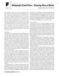 Maritime Logistics Professional Magazine, page 14,  Q2 2012