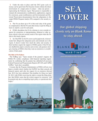 Maritime Logistics Professional Magazine, page 19,  Q2 2012 FEMA PA
