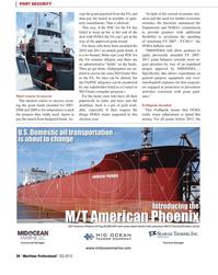 Maritime Logistics Professional Magazine, page 20,  Q2 2012 Port Security