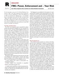 Maritime Logistics Professional Magazine, page 22,  Q2 2012 carrier agreements
