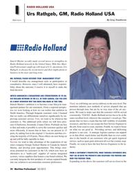 Maritime Logistics Professional Magazine, page 24,  Q2 2012 Netherlands