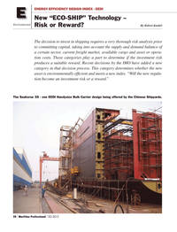Maritime Logistics Professional Magazine, page 28,  Q2 2012