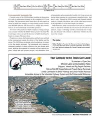 Maritime Logistics Professional Magazine, page 31,  Q2 2012 Galveston Capt. John Peterlin III, Sr.
