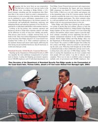 Maritime Logistics Professional Magazine, page 34,  Q2 2012 Commandant Tom Collins