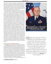 Maritime Logistics Professional Magazine, page 36,  Q2 2012 federal government