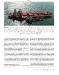 Maritime Logistics Professional Magazine, page 47,  Q2 2012 Bloomberg