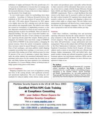 Maritime Logistics Professional Magazine, page 51,  Q2 2012 European Union
