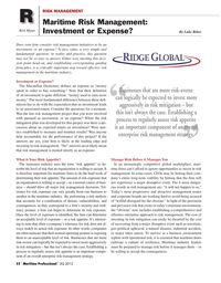 Maritime Logistics Professional Magazine, page 52,  Q2 2012 MacMillan