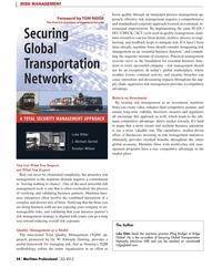 Maritime Logistics Professional Magazine, page 54,  Q2 2012