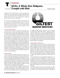 Maritime Logistics Professional Magazine, page 56,  Q2 2012 Marcus Hook