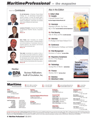 Maritime Logistics Professional Magazine, page 4,  Q2 2012 Rob Howard