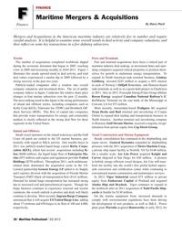 Maritime Logistics Professional Magazine, page 58,  Q2 2012 Louisiana