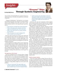 Maritime Logistics Professional Magazine, page 8,  Q3 2012