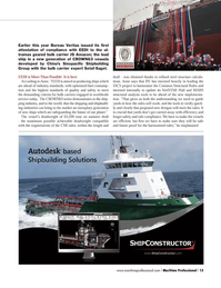 Maritime Logistics Professional Magazine, page 15,  Q3 2012 steel structure calcula
