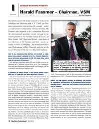 Maritime Logistics Professional Magazine, page 18,  Q3 2012