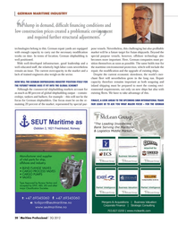 Maritime Logistics Professional Magazine, page 20,  Q3 2012