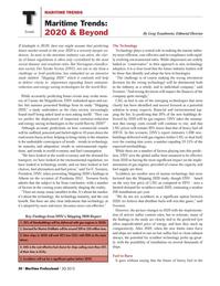 Maritime Logistics Professional Magazine, page 50,  Q3 2012