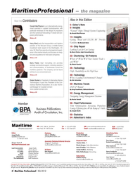 Maritime Logistics Professional Magazine, page 4,  Q3 2012 Keith Henderson