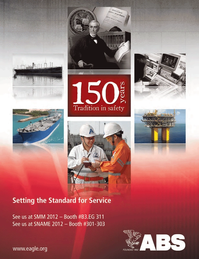 Maritime Logistics Professional Magazine, page 4th Cover,  Q3 2012
