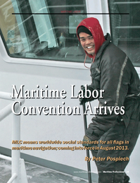 Maritime Logistics Professional Magazine, page 35,  Q4 2012