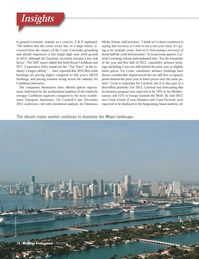 Maritime Logistics Professional Magazine, page 12,  Q1 2013 Europe