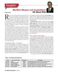 Maritime Logistics Professional Magazine, page 20,  Q1 2013 Oregon