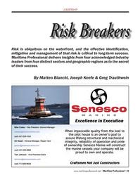 Maritime Logistics Professional Magazine, page 23,  Q1 2013 Greg Trauthwein
