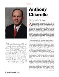 Maritime Logistics Professional Magazine, page 30,  Q1 2013 Alaska