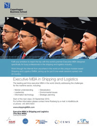 Maritime Logistics Professional Magazine, page 32,  Q1 2013