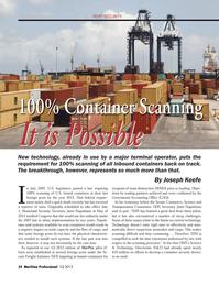 Maritime Logistics Professional Magazine, page 34,  Q1 2013 Congress