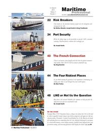 Maritime Logistics Professional Magazine, page 2,  Q1 2013 Matteo Bianchi