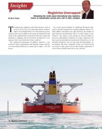 Maritime Logistics Professional Magazine, page 10,  Q2 2013