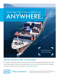 Maritime Logistics Professional Magazine, page 2nd Cover,  Q2 2013