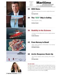 Maritime Logistics Professional Magazine, page 2,  Q2 2013