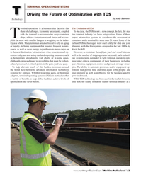 Maritime Logistics Professional Magazine, page 53,  Q2 2013