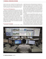 Maritime Logistics Professional Magazine, page 54,  Q2 2013