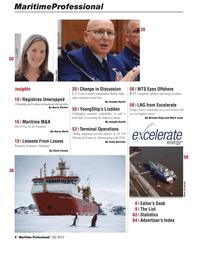 Maritime Logistics Professional Magazine, page 4,  Q2 2013