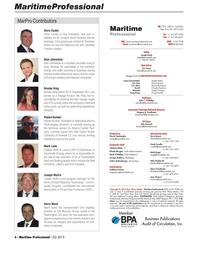 Maritime Logistics Professional Magazine, page 6,  Q2 2013