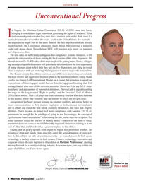 Maritime Logistics Professional Magazine, page 8,  Q3 2013 Shane Guidry